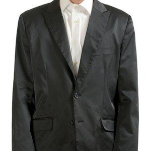 Kenneth Cole Off Black Button Blazer Sport Coat